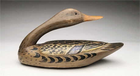 Turned head mallard hen, attributed to Mitchell Lafrance, New Orleans, Louisiana