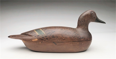 Hollow carved pintail hen from Illinois, 2nd quarter 20th century.