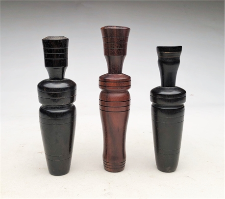 Three duck calls, Clarence Waldon, Memphis, Tennessee.